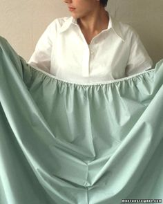 Folding Fitted Sheets | Martha Stewart Living - This technique yields a fitted sheet that will lie flat in the linen closet. (Instructions are for a right-handed person; reverse them if you're left-handed.)