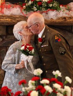 Couple, married in a rush before WWII, finally gets fairy-tale wedding... Melts my heart!!!