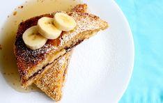 Cornflake-Crusted Banana and Nutella Stuffed Challah French Toast