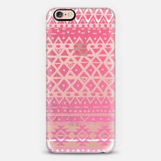 PINK TRIBAL - CRYSTAL CLEAR PHONE CASE - New Standard