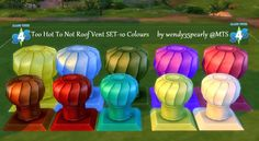 Too Hot to Not Roof Vent in 10 colours by wendy35pearly at Mod The Sims via Sims 4 Updates