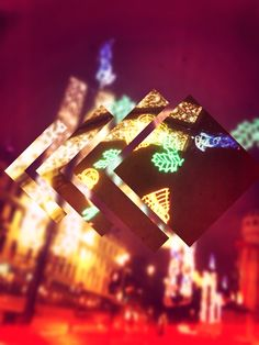 Arty wee thing I made of George Square at Christmas.