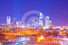 Financial district uptown in charlotte north carolina, a.k.a queen city