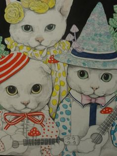Illustration by Higuchi Yuko Crazy Cat Lady, Crazy Cats, I Love Cats, Motifs Animal, Cat People, Cat Drawing, Here Kitty Kitty, Cat Art, Oeuvre D'art