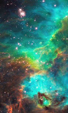 Striking images from the Hubble Telescope. An image of a nebula which is about 170,000 light years away from us