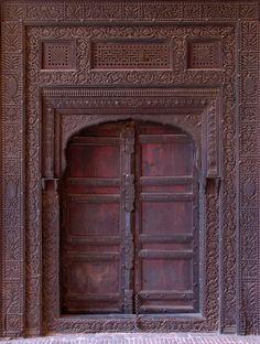 Old door, Lahore Fort, Lahore, Pakistan.