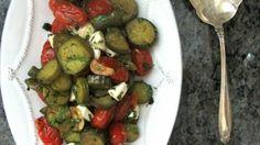 Eating Locally: Eggplant & Burst Tomato Salad | Squash Blossom Kitchens