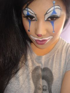 sexy clown makeup - Bing images - Famous Last Words Girl Clown Makeup, Circus Makeup, Halloween Inspo, Halloween Make Up, Halloween Night, Diy Hacks, Clown Face Paint, Female Clown, Cute Clown