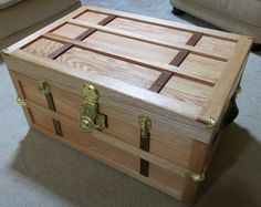 Red oak and scrap wood keepsake chest