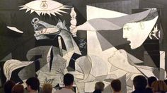 The top ten paintings you should go out of your way to see. Here, GUERNICA, PABLO PICASSO - MUSEO REINA SOFIA, MADRID. Probably the most famous anti-war work ever painted: certainly the most political work Picasso ever painted.