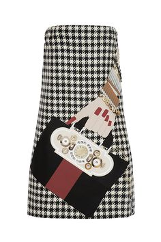 Holly Fulton Appliquéd Houndstooth Wool Mini Dress, $1890, available at NET-A-PORTER.