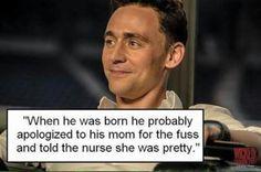 Ladies and gentlemen, Tom Hiddleston.