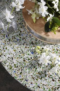 Seaglass Counter Top. I would love to see this in person, I would do this if I was building a house!