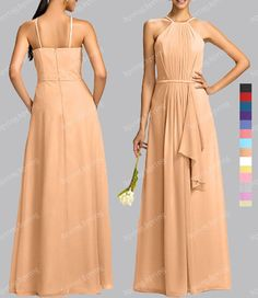 CUSTOM MADE New Bridesmaid Wedding Gown Prom Ball Formal Evening Dress SP297 L