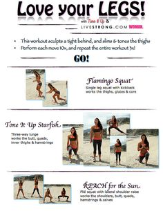 Love Your LEGS - check out the site from time to time for more workouts...