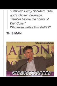 Rick Riordan-Love all his books in the Percy Jackson series, Heroes of Olympus series, and Kane Chronicles! Percy Jackson Memes, Percy Jackson Books, Percy Jackson Fandom, Percy Jackson Crossover, Percabeth, Solangelo, Leo Valdez, Blood Of Olympus, Rick Y