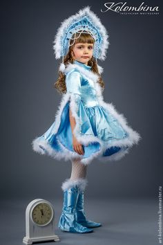 Купить Костюм Снегурочки - голубой, снегурочка, костюм снегурочки, карнавальный костюм, новогодний костюм, парча