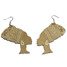 ★ Queen Nefertiti earrings / Ethnic earrings / Nubian Earrings / Natural hair earrings ★ Popular for women rocking their natural hair ★ Wooden dangle earrings ★ Great wooden image of Queen Nefertiti to show your pride and heritage