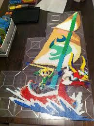 Image result for link and ganon perler beads