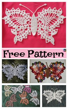 15 Cutest Crochet Beautiful Butterfly – Free Patterns #freecrochetpattern #butterfly