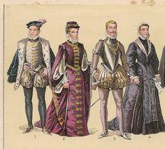 Nº  1.- El principe don Carlos ,hijo de Felipe II.- nº 2.- Damas.- nº 3.- Don Juan de Austria , hijo bastardo de Carlos V.-  nº 4.- La princesa doña Juana.