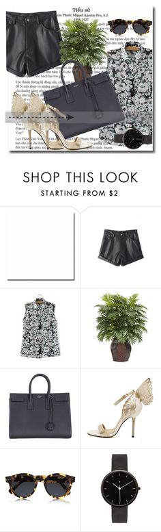 """""""Untitled #251"""" by dianagrigoryan ❤ liked on Polyvore featuring Nearly Natural, Yves Saint Laurent, Illesteva and I Love Ugly"""