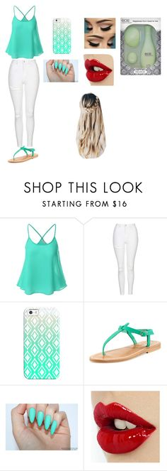 """""""eos"""" by anainesdiazh on Polyvore featuring Belleza, Doublju, Topshop, Casetify, K. Jacques y Eos"""