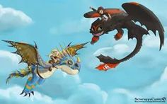 Astrid,Hiccup, Toothless and Stormfly♥
