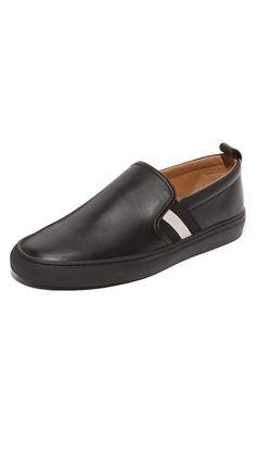 Bally Men's Herald Slip On Sneakers, Black, 45 EU (13 D(M) US Men)