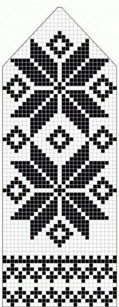 northern star / snowflake motif ~~ knitted mitten pattern ~~ also filet crochet cross stitch Knitting Charts, Knitting Stitches, Knitting Designs, Knitting Projects, Knitting Patterns, Crochet Patterns, Knitting Tutorials, Loom Knitting, Free Knitting