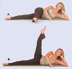 Get the gap between your thighs ... 10 reps each leg, three times a week ... See…