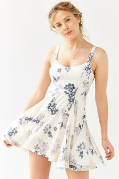Margot Crepe Floral Day Dress - Urban Outfitters