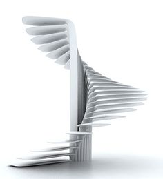 distinctiveforms:  Parametric Spiral Stair based on a circle by Ali Torabi