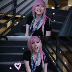 she s perfect. Scene Girl Hair, Scene Girls, Emo Scene, Grunge Teen, Alex Dorame, Shannon Taylor, Bryan Stars, Emo Hair, Emo Girls