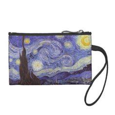 Vincent Van Gogh Starry Night Vintage Fine Art Coin Wallet