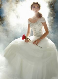 Tale as old as time. Make your wedding the epitome of romance with a Beauty and the Beast wedding theme Beauty And The Beast Wedding Theme, Renaissance Wedding Dresses, Disney Inspired Wedding, Bridal Dresses, Dress Wedding, Bridal Collection, Bride, Inspiration, Image
