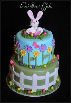 Easter Cake by Lori's Sweet Cakes Easter Cookies, Easter Treats, Easter Cake, Easter Party, Fancy Cakes, Cute Cakes, Sweet Cakes, Gorgeous Cakes, Amazing Cakes
