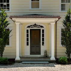 Crisp Architects - farmhouse - center hall colonial, no shutters