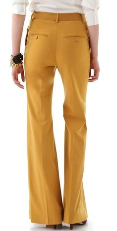 By Malene Birger Cleofe High Waisted Pants - mustard