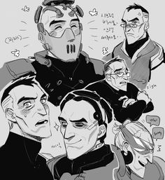 all my love for precious babies Overwatch Comic, Overwatch Fan Art, Fight Me Meme, Goth Art, Face Expressions, Character Design, Sketches, Fandoms, Comics
