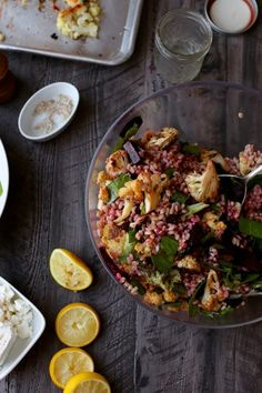 Roasted Cauliflower, Beet, and Farro Winter Salad | http://joythebaker.com/2015/02/roasted-cauliflower-beet-farro-winter-salad/