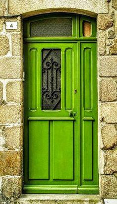 I like the black metal piece with the green color Cool Doors, Unique Doors, Porte Cochere, Doors Galore, Gates, When One Door Closes, Door Detail, Door Gate, Door Knockers