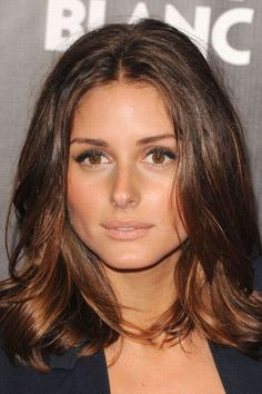 Olivia Palermo hair: Glossy tresses. When I finally decide to give up & color my hair. I like the subtle ombre effect.
