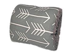 NURSIE® ORIGINAL Arm Nursing Pillow/ Gray and White Arrow Nursing Pillow/ Nursing Arm Pillow/ Free Shipping in US/ Support Pillow/ Nursie