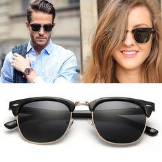56f82bbc6c Dollger Polarized Sunglasses For Men Women Brand Designer Vintage Half Metal  Classic Style Mens Womens Sun Glasses Gafas D0303-in Sunglasses from Men s  ...