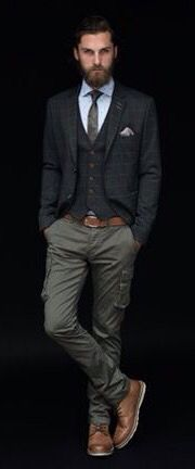 Relaxed Buisness and Office Suiting, Layers, Men's Fall Winter Fashion.