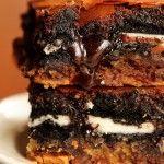 Chocolate Chip cookie oreo brownie bar