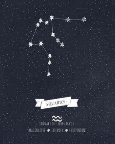Aquarius Constellation Astrology Artwork Artwork Print by Angelina Perdomo. *** Discover even more by visiting the image