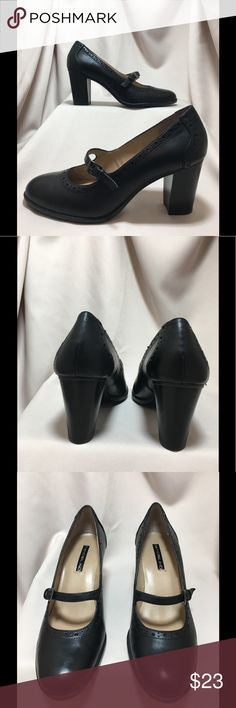 Bandolino heels Bandolino Mary Jane 3 inch heels with decorative trim.  Comfort and style in this beautiful shoe that were gently worn with minimal signs of wear on soles. Excellent condition. Bandolino Shoes Heels