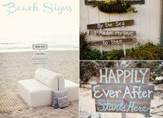 beach wedding signs - Google Search